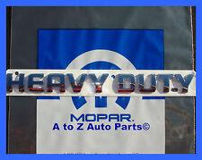 NEW 2005-UP Dodge Ram Cummins HEAVY DUTY Chrome Tailgate Emblem / OEM Mopar