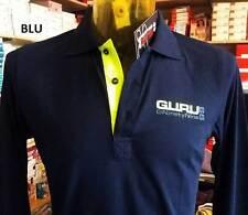 Polo uomo Guru manica lunga con logo stampato frontale e sul collo art G992005