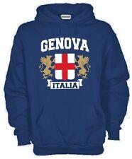 Felpa Genova Italia KJ507 Genoa Grifone Hoodie cotone Ultras Supporter Fan Doria