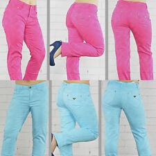 Damen Jeans Hose Damenjeans Hüftjeans Jeanshose Pink Blau Gr. 36 38 40 42 44 46