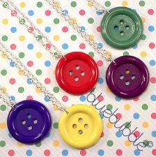 Funky botón Collar Lindo Kitsch Kawaii Pop Coser Emo Sweet Vintage novedad del Reino Unido