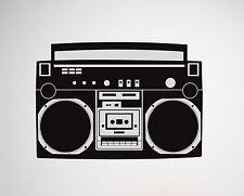 Boombox Wall Decal radio removable sticker Hip Hop Bboy Rap breakdance mural art
