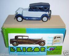 ELIGOR RENAULT NN 1927 TORPEDO GRIS CLAIR CAPOTE BLEU FONCE REF 1040 1/43 BOX B