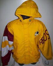 WASHINGTON REDSKINS Starter KNOCKOUT Hooded Winter Jacket S M L XL 2X YELLOW
