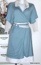 NOA NOA WICKEL-KLEID blau blue dress Basic Viskose debres