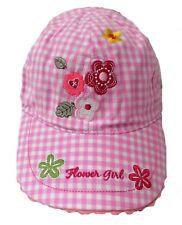 fille bonnet Mignon Casquette baseball en rose/blanc PROTECTION SOLAIRE