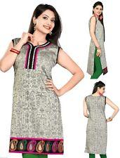 Indian Bollywood South Silk Dress Kurta Kurti Tunic Top Shirt for Ladies 240