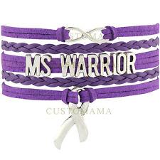 MS WARRIOR  disability awareness charm BRACELET gift bangle new jewellery AB17