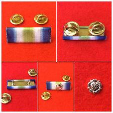 Quality Falklands Ribbon Bar Stud South Atlantic Medal Pin Falklands Rosette