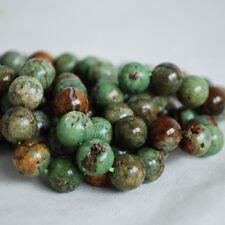"""Grado A Natural Verde Ópalo calcedonia piedras preciosas redonda con cuentas de 4, 6, 8, 10mm - 16"""""""