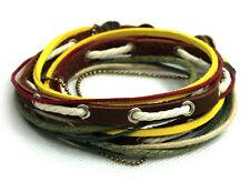 El tíbet style serie! pulsera enrollada Bracelet-pulsera de cuero unisex! pulsera de estilo surfista