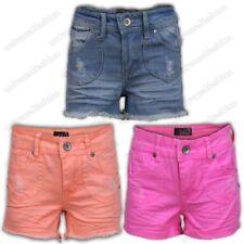 Niñas Pantalones cortos Shorts Muy Vaquero Algodón ocasionales de verano llano
