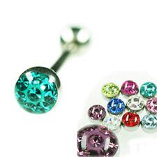 Zungen Piercing 1,6mm Barbell EPOXY Crystal Kugel 5 oder 6mm L:12-16mm