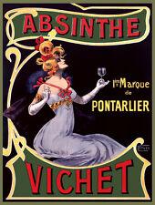 Quality POSTER.Absinthe Vichet.Nouveau.Home Room Decor club Bar art print.q754