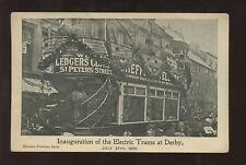 Derbyshire DERBY Tram Inauguration PPC 1904