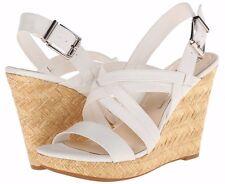 Jessica Simpson JS Julita Powder White Espradrille Platform Wedge Sandal - $99