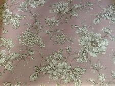 Loire français floral toile de jouy rose poudrée rideau/craft tissu