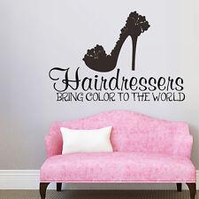 Hairdressers Inspired Wall Sticker Hair Salon Beauty Quote Vinyl Shop Art Decor
