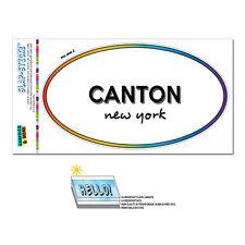 Rainbow Euro Oval Window Laminated Sticker New York NY City State Can - Eas