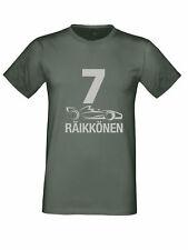 KIMI Räikkönen F1. AUTO argento logo T-SHIRT FERRARI Unisex Taglie Bambini a 5XL