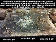 bracelet esclave brassard différentes mesures et éléments bracelet made in italy
