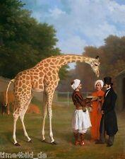 TIME4BILD Jacques Laurent Agasse Die Nubische Giraffe BILD LEINWAND REPRODUKTION