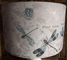 Shabby chic Lamp Shade,lampshade Carte Postal Dragonfly FREE GIFT
