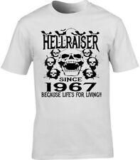 homme anniversaire T-shirt 50th 1967 toute année Hellraiser DESIGN UNIQUE CADEAU