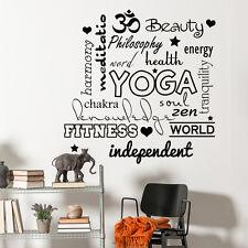 Wall Decal Quote Decal Yoga Studio Sticker Sport Gym Decor Vinyl Interior MM71