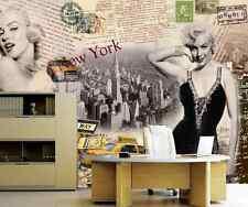 3D Marilyn Monroe Smile 67Wallpaper Decal Decor Home Kids Nursery Mural  Home