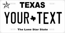Texas 2012 Personalized Custom License Plate Car Motorcycle Bike