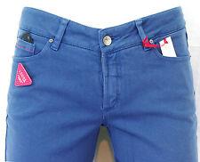 Jeans I CODE by IKKS femme slim fit bleu dur taille haute coton stretch