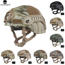 Emerson Tactical ACH MICH 2000 Helmet Ear Flaps Helmet w/ NVG Shroud & Side Rail
