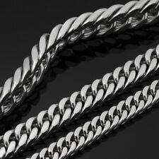XXL Edelstahl Panzerkette Halskette Armband 18-70cm  2/3/4/5/6/7/8/9//11/13mm
