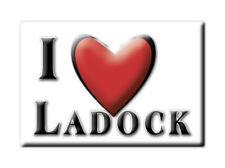 SOUVENIR UK - ENGLAND FRIDGE MAGNET UNITED KINGDOM I LOVE LADOCK (CORNWALL)