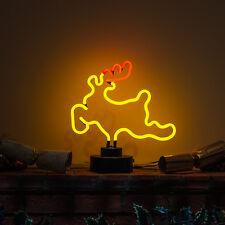 auténtico Cristal Hecho a Mano Neón Letrero Navidad Luz Mesa Estantería