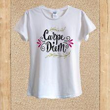 Carpe Diem print T-shirt 100% Cotton unisex women