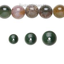 Lot of 50 Round Fancy Jasper Natural Genuine Gemstone Beads Sizes Small - Big