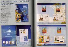 ITALIA FOLDER UFFICIALE TORINO 2006 GIOCHI OLIMPICI INVERNALI TANTISSIMI PEZZI
