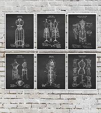 Dress Form Decor Art Prints set of 6 unframed Sewing craft room wall decor