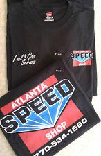 Speed Shop Super Hero Logo Racing T-Shirt- Black