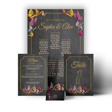 Butterfly Chalkboard Wedding Table Seating Plan Chart Menu Place Settings Escort