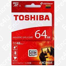 Carte Mémoire TOSHIBA HD 64 Go Micro SDXC UHS-I - dispo aussi en 16 32 Gb Giga