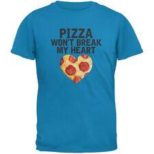 Pizza Won't Break My Heart Sapphire Blue Adult T-Shirt
