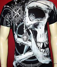 Bones Black Skull T-shirt M L Xl 2xl 3xl Bikers deathroad GHOSTRIDER - 5
