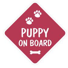 Generic Puppy On Board Vinyl Car Van Sticker or Sign and Sucker Pet Lover
