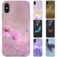 dessana Schmetterlinge Kunst TPU Schutz Hülle Case Handy Tasche Cover für Apple