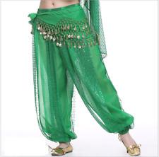 Sequins Lantern Long Pants Belly Dance Costumes Practice Dancewear 13 colors