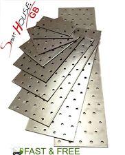 HEAVY DUTY Galvanised Steel Flat Mending Plate Bracket Repair Various Sizes
