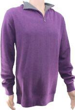 Neues AngebotKirkland Herren 1/4 Zip Pullover Baumwolle Wildleder Optik Pullover lila Pulli XL